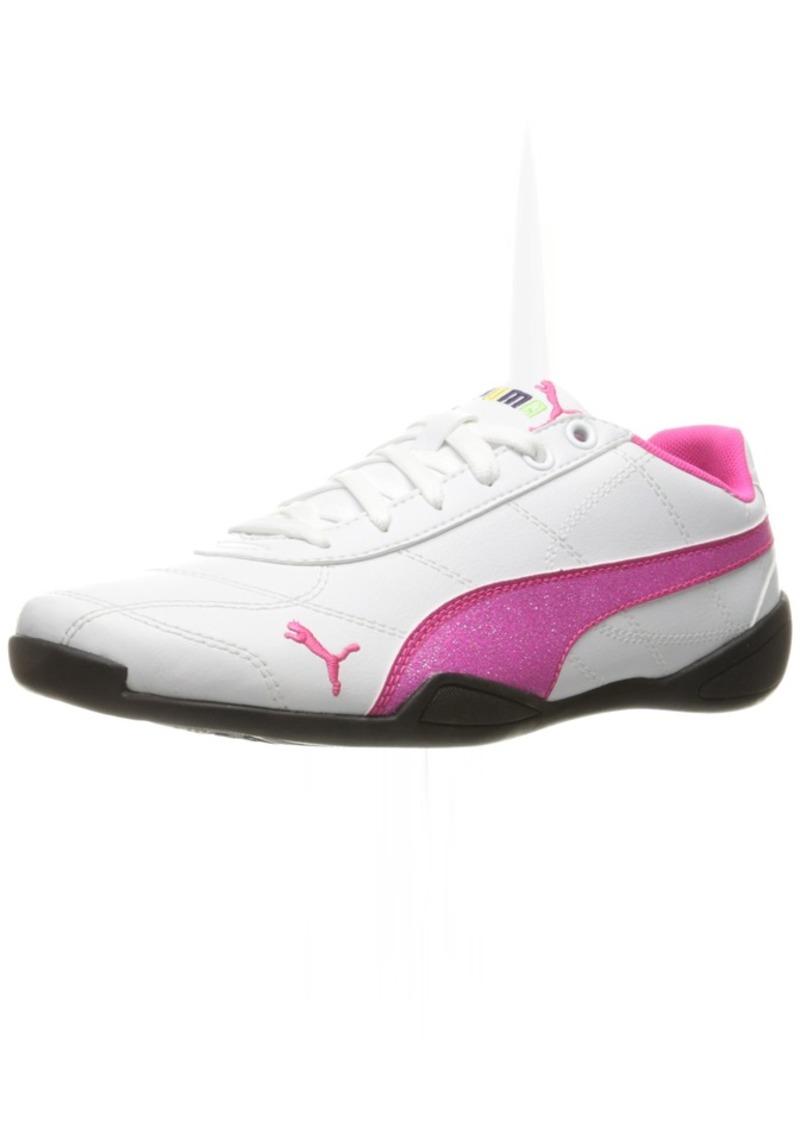 af10af6a6508c Girls' Tune Cat 3 Glitter Sneaker White/Pink Glo