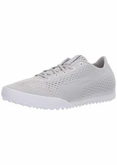 Puma Golf Women's Monolite Cat Engineered Mesh Golf Shoe Gray Violet-Puma White  M US
