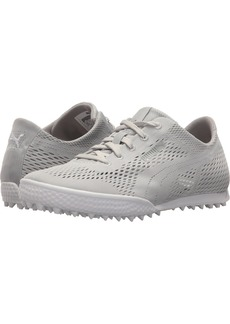 PUMA Golf Women's Monolite Cat Woven Golf Shoe Glacier Gray  Medium US