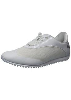 PUMA Golf Women's Summercat Sport Golf Shoe White/Silver/high Rise  Medium US