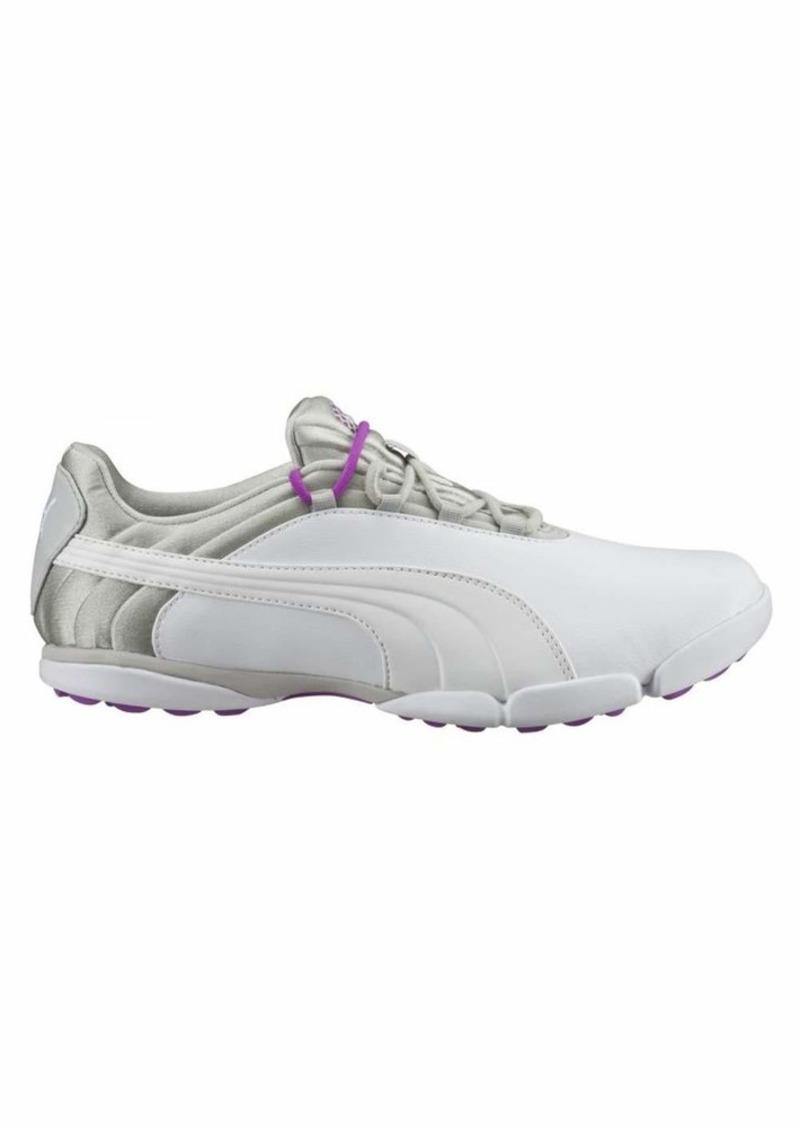 PUMA Golf Women's sunnylite v2 Golf Shoe White-Gray Violet-Purple Cactus Flower  Medium US