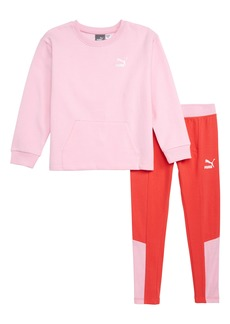 PUMA Graphic Sweatshirt & Leggings Set (Little Girls)