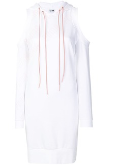 Puma hooded cut-out shoulder dress - White