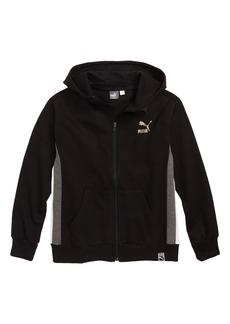 PUMA Hooded Zip Sweatshirt (Big Boys)