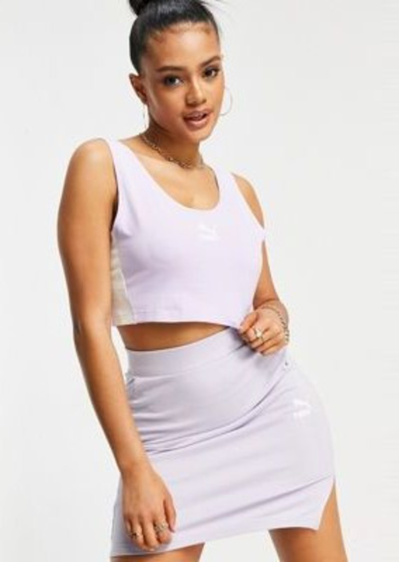 Puma Iconic T7 bralette in lilac