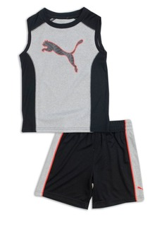 PUMA Kids Little Boy's Two-Piece Tank Top and Shorts Set