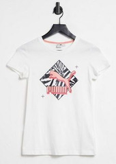 Puma large logo t-shirt in white