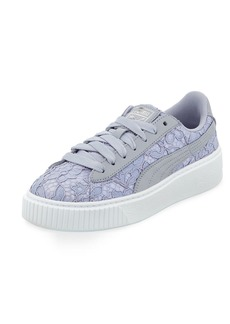Puma Leather & Lace Low-Top Sneakers