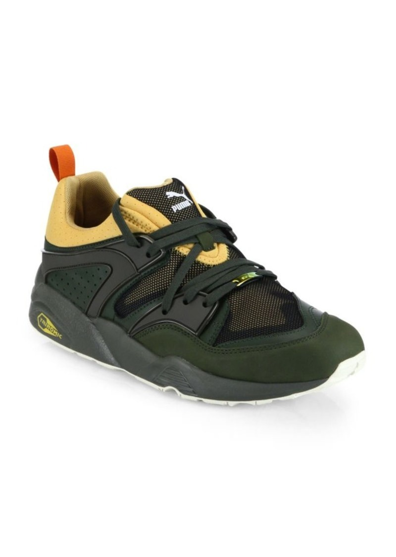 PUMA Leather & Mesh Sneakers