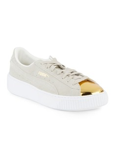 PUMA Leather Lace-Up Sneakers