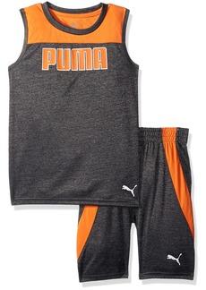 PUMA Little Boys' 2 Piece Muscle Top and Short Set