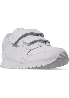 Puma Little Boys St Runner V2 Leather Hook-and-Loop Casual Sneakers from Finish Line