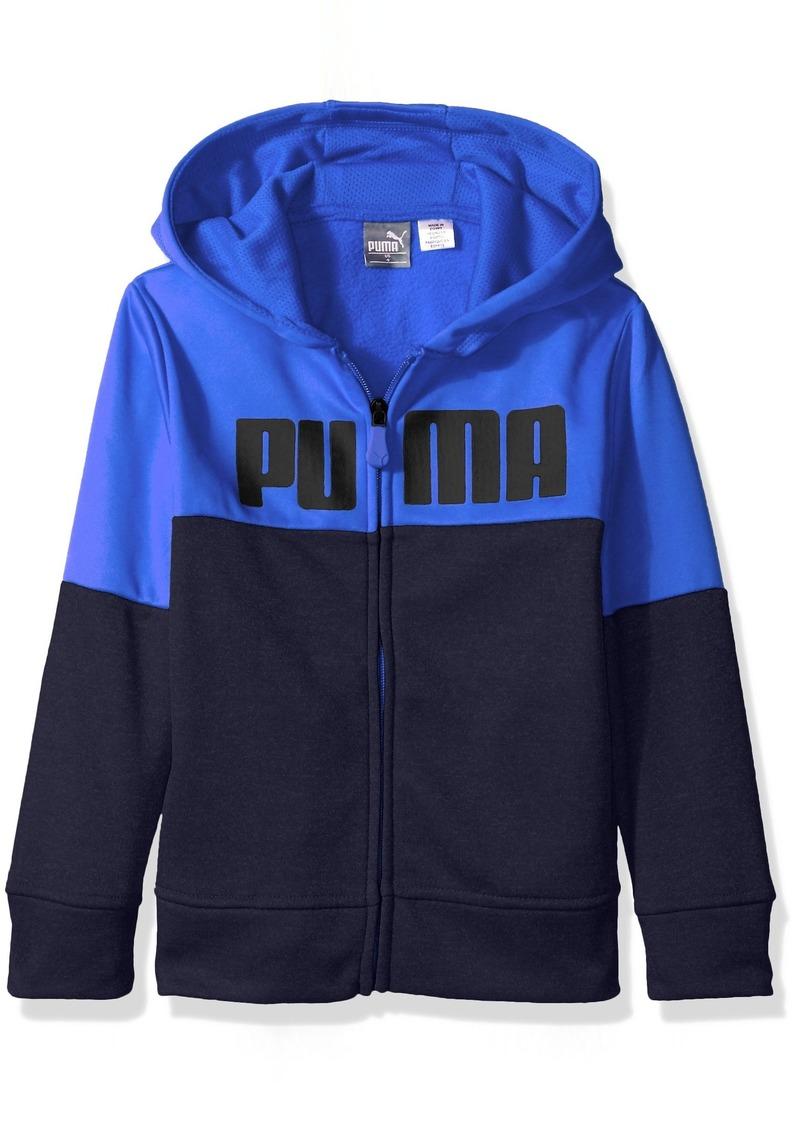 85d3ef4dc493 SALE! Puma PUMA Little Boys  Tech Fleece Zip Hoodie deep Navy