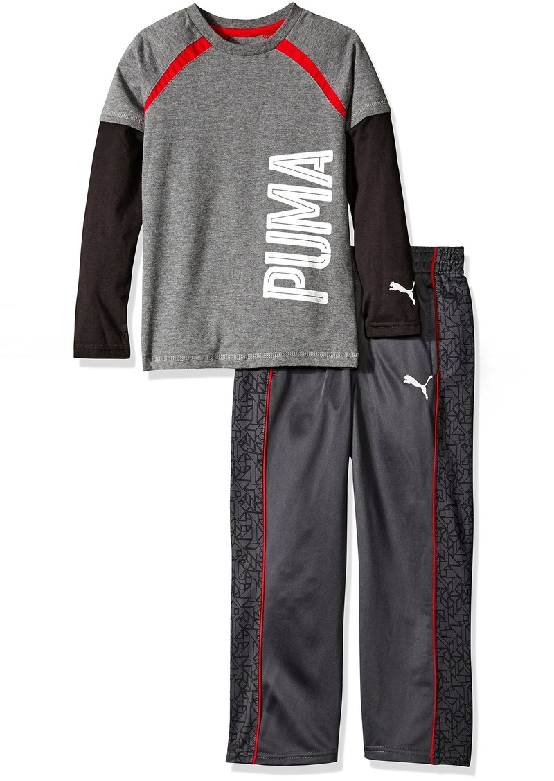 d72556460952 Puma PUMA Little Boys  Toddler 2 Piece Long Sleeve Tee and Pant Set ...