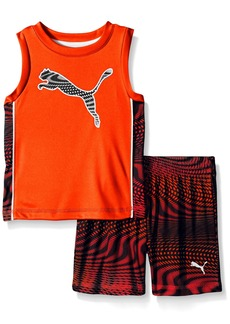 PUMA Little Boys' Toddler Active Tank and Short Set