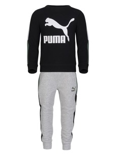 PUMA Little Boy's Two-Piece Logo Pullover & Joggers Set