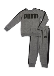 PUMA Little Boy's Two-Piece Sweat Shirt and Pant Set