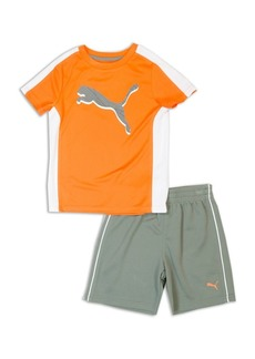 PUMA Little Boy's Two-Piece Tee and Shorts Set