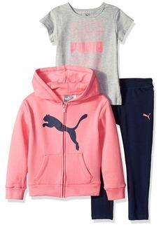PUMA Little Girls' 3 Piece Fleece Set