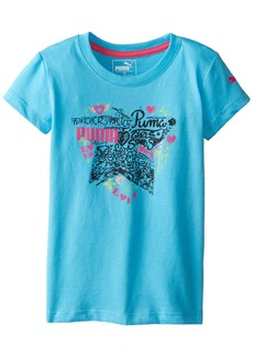 PUMA Little Girls' Active Graphic Tee Shirt