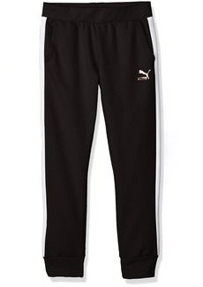 PUMA Little Girls' Archive Logo T7 Joggers Black