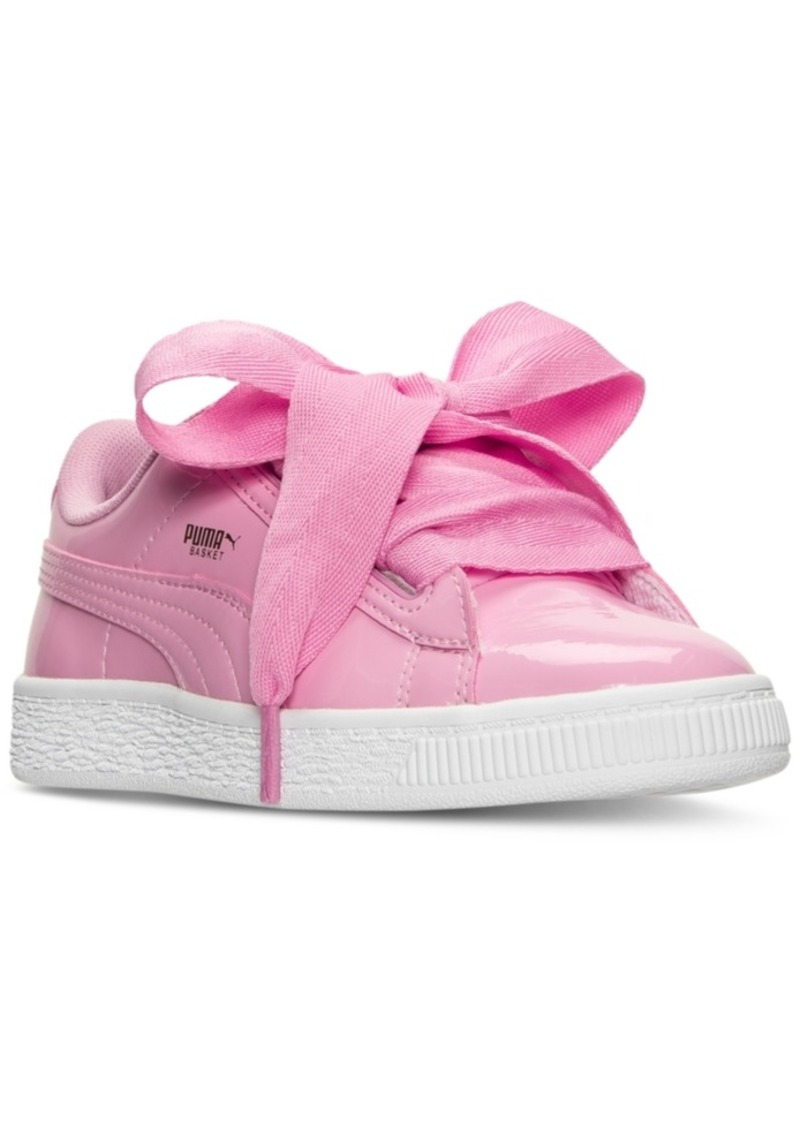 Puma Puma Little Girls' Basket Heart Patent Casual Sneakers from Finish  Line | Shoes