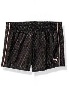 PUMA Little Girls' Core Mesh Shorts Black