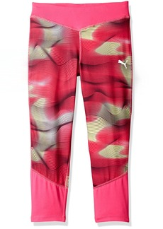 PUMA Girls' Little Cropped Tights with Contrast Piecing