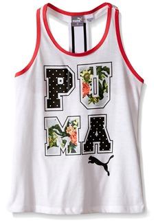 PUMA Little Girls' Fashion Tank White 5