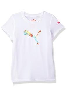 PUMA Little Girl's Girls' Forever Faster T-Shirt Shirt White