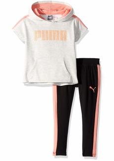 PUMA Little Girls' Hoodie and Legging Set