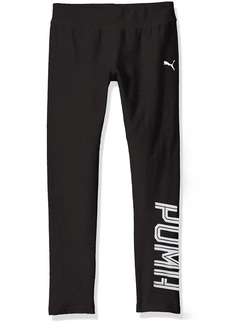 PUMA Little Girls' Logo Legging Black