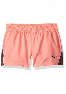PUMA Little Girls' Mesh Overlay Shorts  6