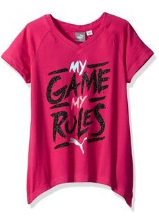 PUMA Little Girls' Shark Bite Hem T-Shirt