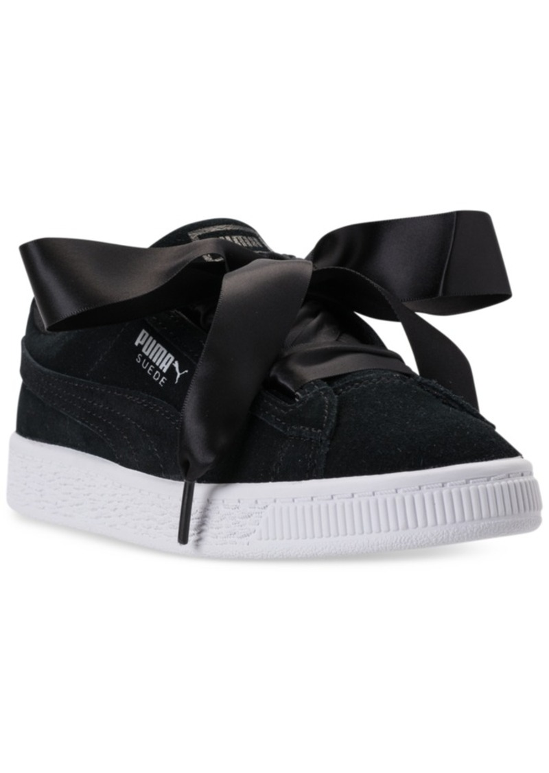 Puma Puma Little Girls  Suede Heart Casual Sneakers from Finish Line ... 624581f34