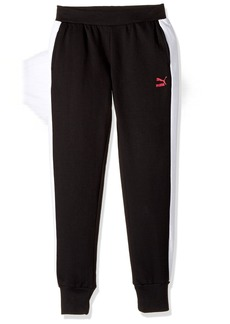 PUMA Little Girls' T7 Jogger Pants Black