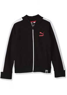 PUMA Little Girls' T7 Track Jacket Black