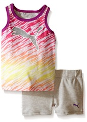 PUMA Little Girls' Tank and Short Set