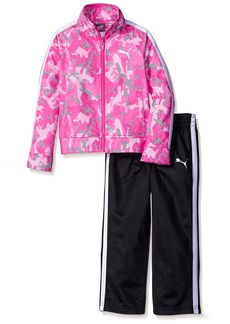 PUMA Little Girls' Toddler Jacket and Pant Tricot Set