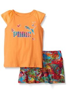 PUMA Little Girls' Toddler Tee and Skort Set