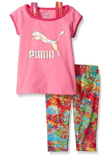 PUMA Little Girls' Toddler Tee Legging Set