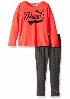 PUMA Little Girls' Top and Legging Set