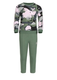 PUMA Little Girl's Two-Piece Camo Pullover & Leggings Set