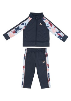 PUMA Little Girl's Two-Piece Printed Jacket and Pants Set