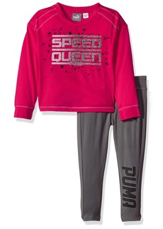 PUMA Little Girls' Two Piece Top and Legging