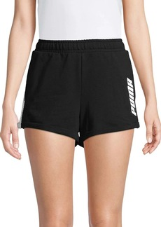 PUMA Logo Cotton Blend Shorts