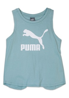 PUMA Logo Cross Back Tank (Big Girls)