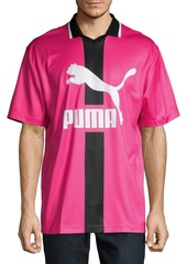 PUMA Logo Short-Sleeve Polo