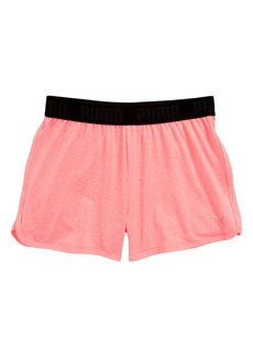 PUMA Logo Sport Shorts (Big Girls)