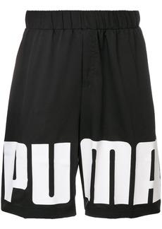 Puma logoed sports shorts - Black